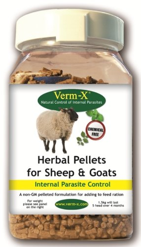 Verm-X - Herbal Pellets for Sheep & Goats x 2.25 Kg Tub Test