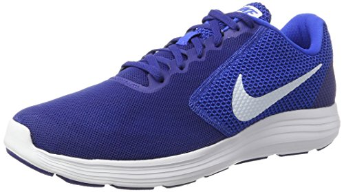 Nike Men's Nike Revolution 3 Running Shoe, Chaussures de Fitness homme Multicolore (Deep Royal Blue/white-hyper Cobalt)