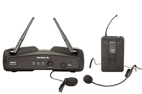 PROEL WM202H Radio microfono ad archetto Lavalier UHF Wireless a frequenza fissa