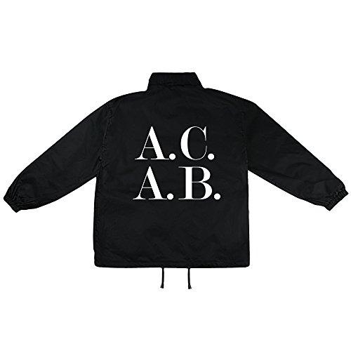 simpleandsweet ACAB Symbol Motiv auf Windbreaker, Jacke, Regenjacke, Übergangsjacke, stylisches Modeaccessoire für HERREN, viele Sprüche und Designs/Gr.XL