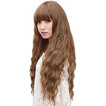 Hrph Del partido de Cosplay de la nueva manera de señora a largo ondulado Cabello pelucas llenas