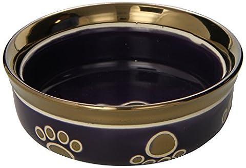 Ethische Steingut Dish 688830 5 in. Ritz Copper Rim Cat