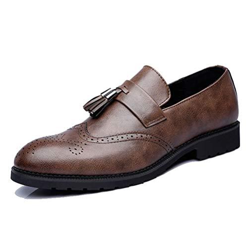 Qianliuk Männer Brogue Schuhe Formelle Schuhe Männer Business Kleid Für Hochzeitsgesellschaft Mikrofaser Leder Oxford Schuhe