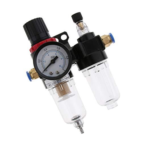 FLAMEER Belüfter für Abscheider Wasserölregler Luftfilter Manometeradapter für Einlassrohr - 8mm Einlass