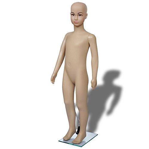 vidaXL Schaufensterpuppe Mannequin Kind Junge Mädchen Puppe Bodenplatte 4-TLG. -