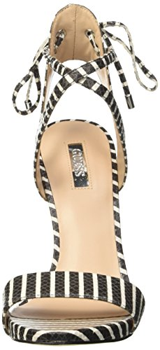 Guess Printed Eco Leather, Scarpe Col Tacco con Cinturino a T Donna Bianco