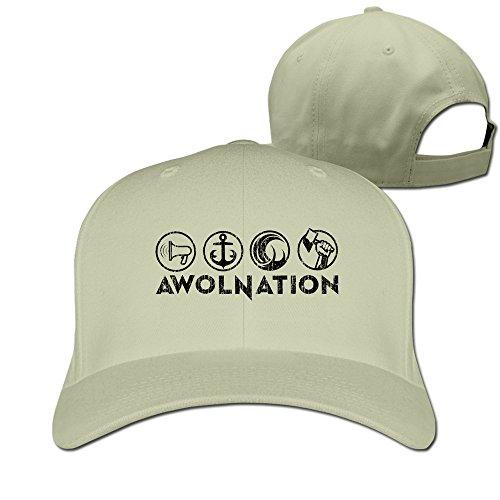Nuevo Top songkee Awolnation Rock banda Logo deporte ajustable sombreros para hombres