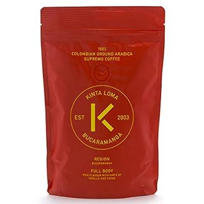 Kinta Loma - 100% Finest Colombian Ground Coffee Arabica Supremo (Bucaramanga - Full Body - Hints of Vanilla Cacao) by Kintaloma