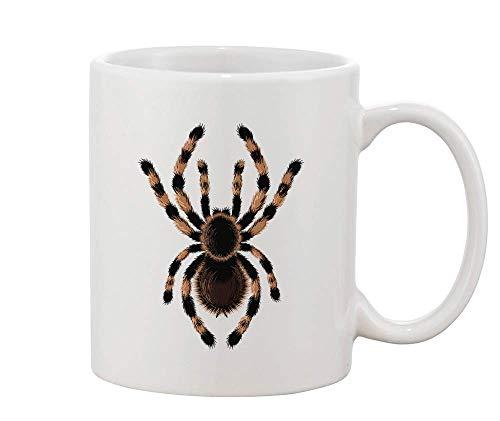 airy Scary Spider White Ceramic Coffee and Tea Mug ()