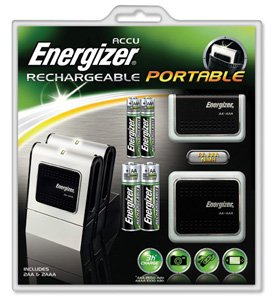 Energizer Portable Charger with 2x AA 2500mAh and 2x AAA 1000mAh batteries