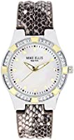 Mike Ellis New York Women's Quartz Watch with Mother of Pearl Dial Analogue Display and Leather pink / colourful - SL2968A1