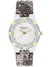 Mike Ellis New York Damen-Armbanduhr Luxury Analog Quarz Leder SL2968A1