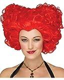 Horror-Shop Rote Herzkönigin Perücke für Party mit Märchenmotto, Halloween oder Faschingsfeten