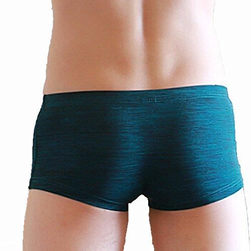 Retroshorts Boxershorts, Baumwolle Herren Reizvoll Trunks Neues Design Unterwäsche Herren Boxershorts Shorts Bulge Pouch Unterhose Sunday (Blau, XL) (Dessous Neue)