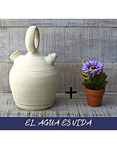 Hogar y Mas Botijo.Dispensador de agua H2O, 5 lts Aprox. Sistema Natural de enfriamiento, sostenible y respetuoso con el medio ambiente