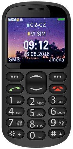 Aligator A880 Seniorenhandy mit SOS Taste und GPS Locator, 4,84 x 2,56 x 0,47 Zoll schwarz