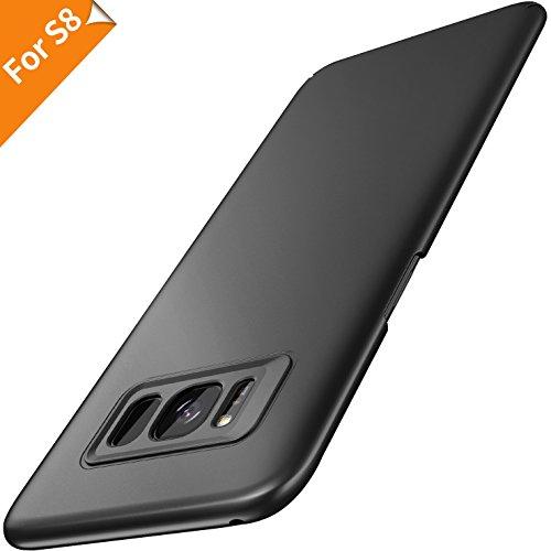 RANVOO Samsung Galaxy S8 Hülle, Premium Plastik Handyhülle Stylisch Matt Hardcase Ultra Slim Dünn Leicht Schutzhülle Anti-Kratzer Anti-Fingerabdruck Cover Case Hülle für Galaxy S8, 5.8 Zoll (Schwarz)