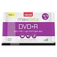 ‏‪MAXELL 639013 / DVD Recordable Media - DVD+R - 16x - 4.70 GB - 50 Pack Spindle‬‏
