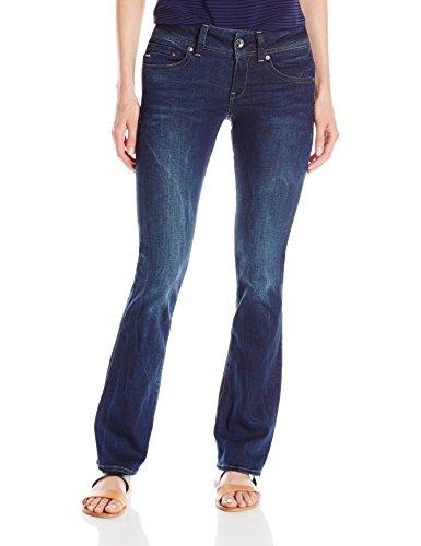 G-Star Damen Jeanshose Midge Saddle Mid Bootleg Wmn, Blau (dark aged), 29/30 (Jeans Bootleg-cut)