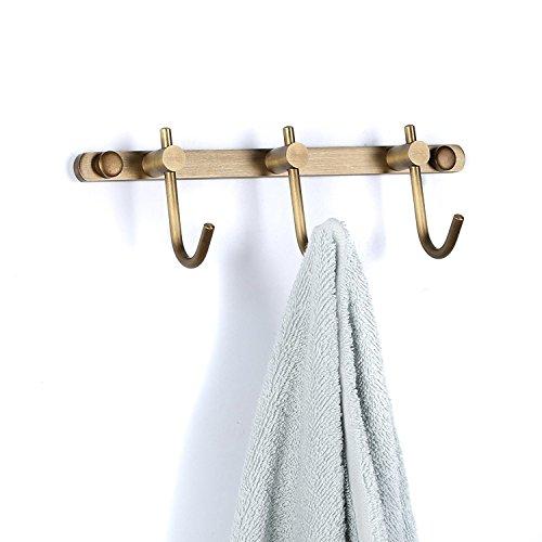g Konstruktion 3 Haken Hakenleiste Handtuchhaken Kleiderhaken Wandmontieren Antik Messing Finished Vintage Retro Stil für Badezimmer ()