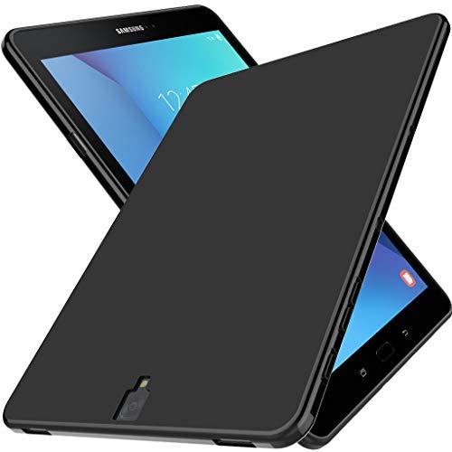 LK Hülle für Samsung Galaxy Tab S3, Ultra Schlank Dünn TPU Gel Gummi Weiche Haut Silikon Schutzhülle Abdeckung Case Cover für Samsung Galaxy Tab S3 (Schwarz)