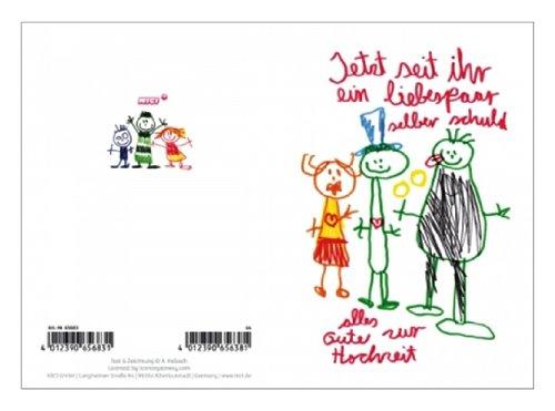 65683 – NICI – Kinderkunst Klappkarten 44 – Hochzeit Jetzt seid ihr ein liebespaar