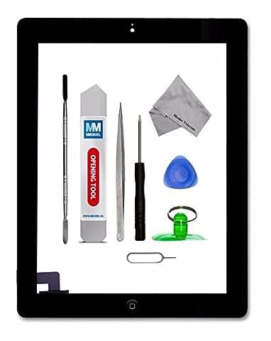 Digitizer Display Glas für iPad 2 Series in Schwarz Touchscreen