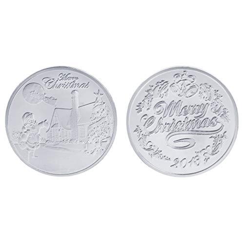 Yiyilam 2018 Moneda Conmemorativa Feliz Navidad Nochebuena Regalos de Recuerdo...