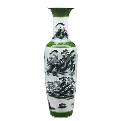 waist-drum-type-floor-vase-of-underglaze-teenchoy-and-white-glazed-porcelain-mountain-temple-wonderf