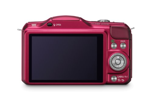 Panasonic Lumix DMC-GF5XEG-R Systemkamera (12 Megapixel, 7,5 cm (3 Zoll) Touchscreen, Full HD Video, bildstabilisiert) inkl. Lumix G Vario 14-42 mm Objektiv rot - 4