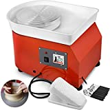 BananaB 350W Electric Pottery Wheel Ceramic Machine 25cm Keramik Radmaschine 220V Ceramic Wheel Machine Radmaschine DIY verstellbare Füße mit Sculpting Set