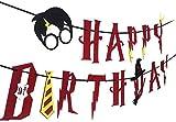 Witch's Magic House sorcière Magique de Maison Harry Potter fête-Joyeux Anniversaire Bannière Guirlande de Feutre Décoration de fête, Rouge