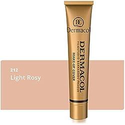 Dermacol DC Make-up Cover - Fond de teint Haute couvrance Résistant à l'eau SPF30, Rose claire beige 212, 30 g