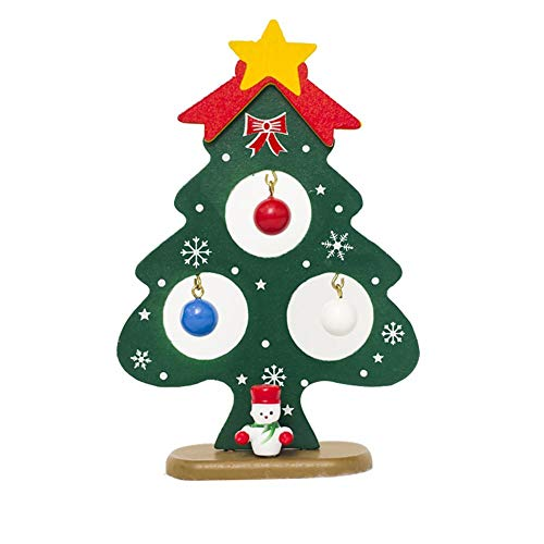abletop Christmas Tree, Mini X-Mas Tree Stand Pendants Ornaments for DIY Home Office Shop Window Christmas Party Decorations(1PC) ()