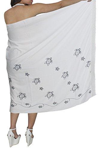 La-Leela-cubrir-tortuga-playa-bordada-de-natacin-hawaiano-pareo-hasta-blanco-pareo-envoltura
