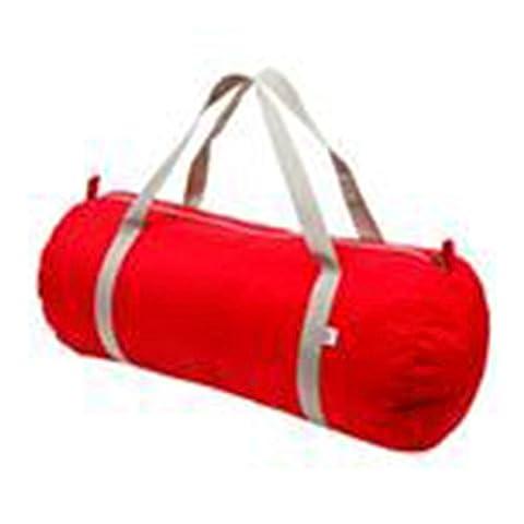 Sac de sport en nylon Fermeture éclair en tissu résistant à l'eau Double Poignées American Apparel Taille unique Red / Silver