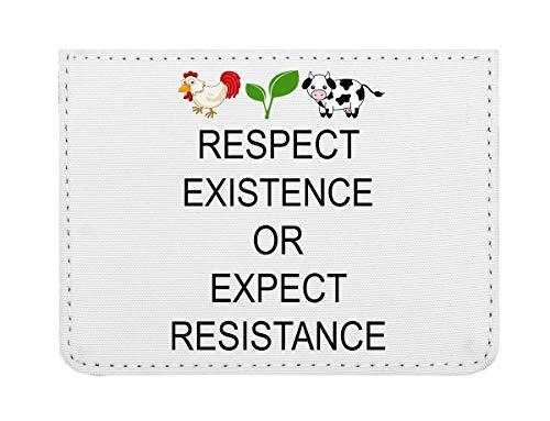 Respect Existence Or Expect Resistance Vegan Estuche para Tarjetas de crédito tamaño Bolsillo