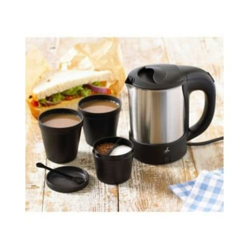 Lakeland Travel Kettle Set with Beakers, Spoons, Divided Container & Bag