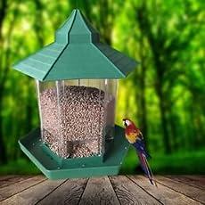 SLB Works Brand New Waterproof Gazebo Hanging Wild Bird Feeder Outdoor Feeding For Garden Decoration