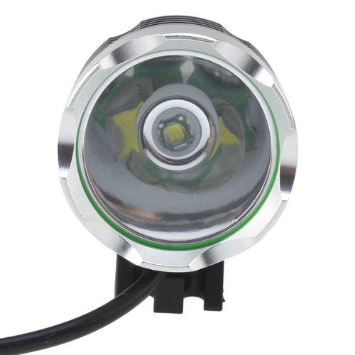 Image Phare Lampe Torche, Phare Lampe Avant Vélo rechargeable & portable - Torche antichoc avant Bicyclette pour Camping, Randonnée, VTT VTC Cycliste (Phare Lampe Avant Vélo)