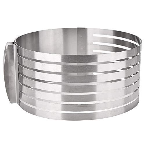 Edelstahl Tortenschneider Kuchen Torten Boden Teiler Cutter Einstellbare Ring 7 schicht mousse form diy runde brot backform durchmesser 16-20 cm für schneiden kuchen(1pc)