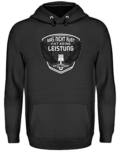 Diesel Shirt Hoodie Sweatshirt - was Nicht rußt hat Keine Leistung - Diesel-Power - Unisex Kapuzenpullover Hoodie -XL-Jet Schwarz
