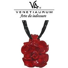 Venetiaurum by Linea Italia - Collana donna in vetro originale di Murano e argento 925 - Gioiello made in Italy certificato