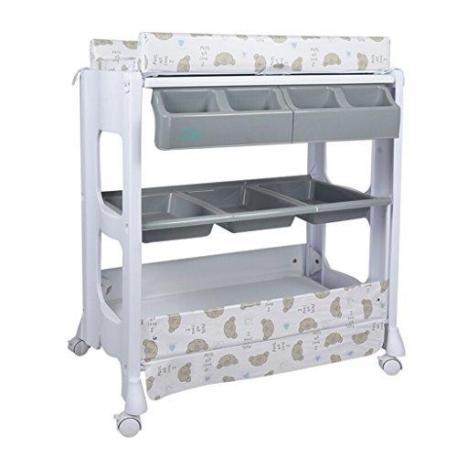 Ali@ Bébé table à langer/multifonction en plastique Nursing Desk Baby Touch Massage lit douche Stand Table de finition Convient pour 0~2 ans bébé violet/rouge/gris/jaune quatre couleurs en o