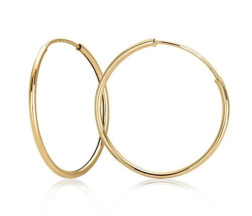 Bijoux para tous9K2651.3 –Pendientes de aro,oro amarillo 9ct