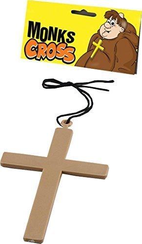 Zubehör Nonne (Ausgefallen Party Kostüm Zubehör Religiöse Nonne Vikar Priester Klerus Mönchsrobe Kreuz)