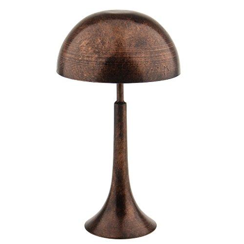 MagiDeal Retro- Hutständer Hüte Mütze Haube Kappe Perücke zur Anzeige Display Aufbewahrung Rack aus Metall, Metallständer Perückenständer Perückenhalter - Kupferig