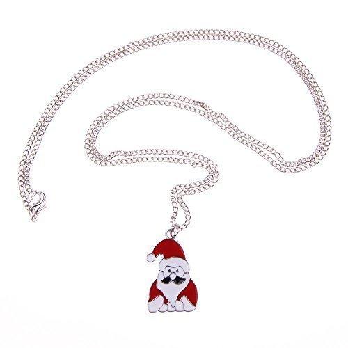 Weihnachtsmann-Kette - 70cm Halskette - Weihnachtsmann Nikolaus Bart Winter Schnee