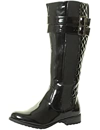 co uk knee high black patent boots shoes bags