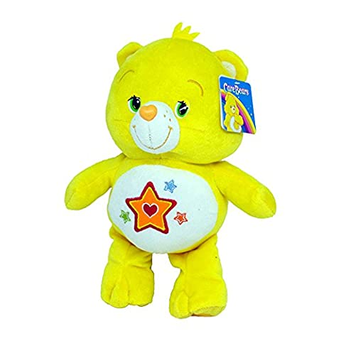 Superstar Bear 9''/12'' Super Soft Toy Plush Care Bears Yellow Orange Star Teddy